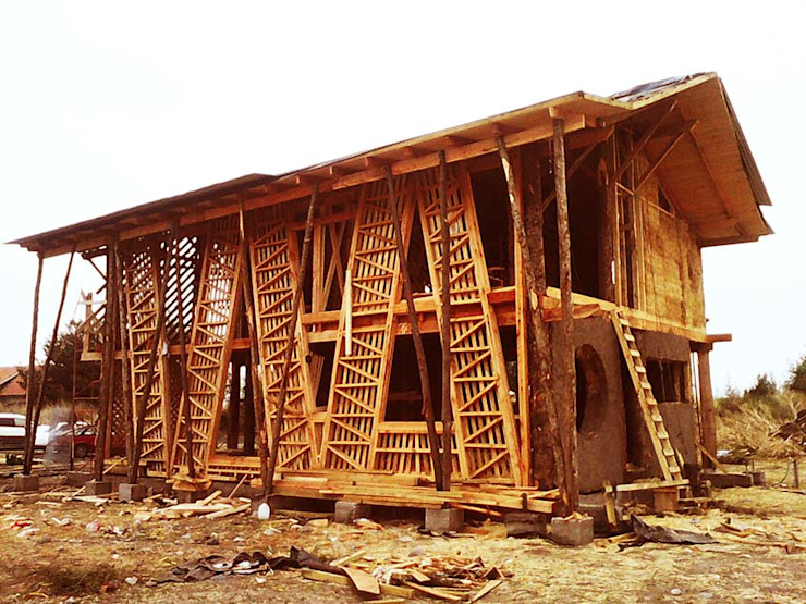 Casas estilo moderno: ideas, arquitectura e imágenes de Estudio Terra Arquitectura & Patrimonio Moderno