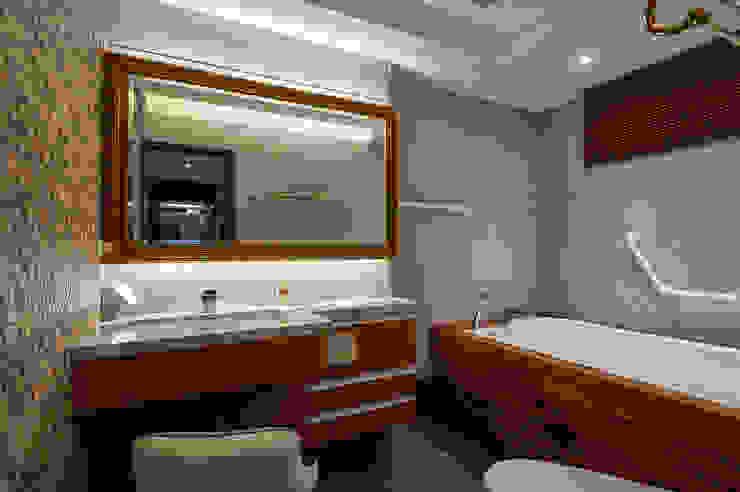 主臥浴室大吹療癒自然風 根據 青瓷設計工程有限公司 古典風