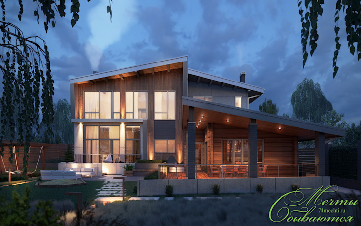 Huizen door Компания архитекторов Латышевых 'Мечты сбываются', Landelijk