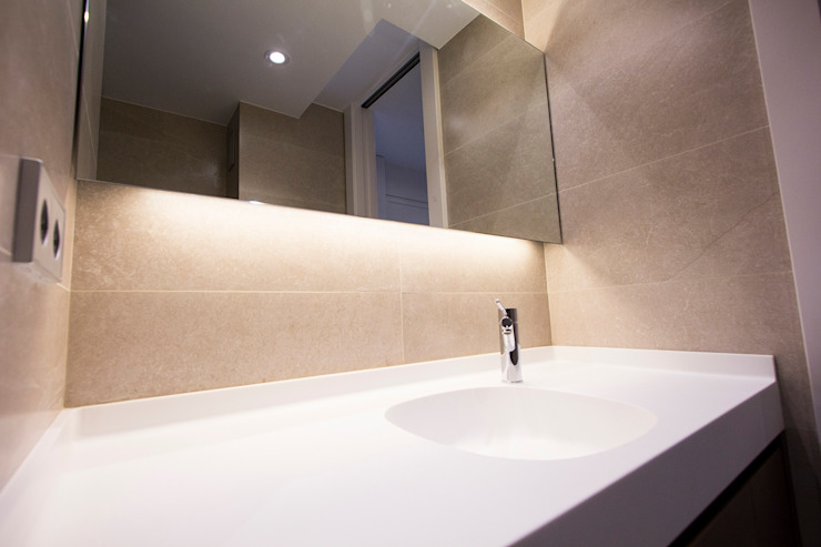 Aseo de día Baños minimalistas de Bocetto Interiorismo y Construcción Minimalista