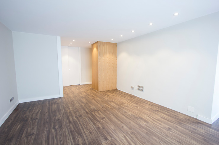 Salón Salones minimalistas de Bocetto Interiorismo y Construcción Minimalista Ladrillos