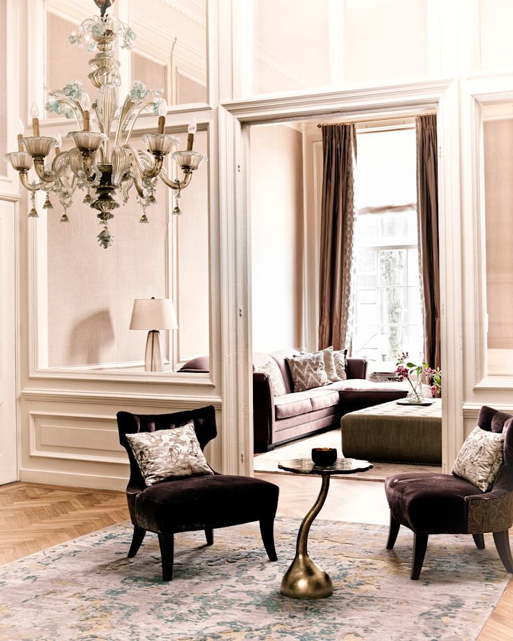 Canal Residence Amsterdam Eclectische woonkamers van Ethnic Chic - Home Couture Eclectisch