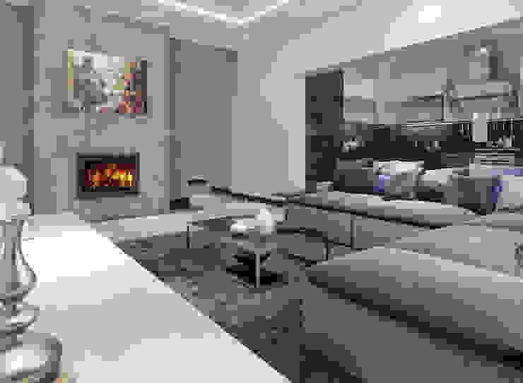 Betonoptik gestalten mit Kalk-Spachtelmasse Moderne Wohnzimmer von Paul Jaeger GmbH & Co. KG Modern Beton
