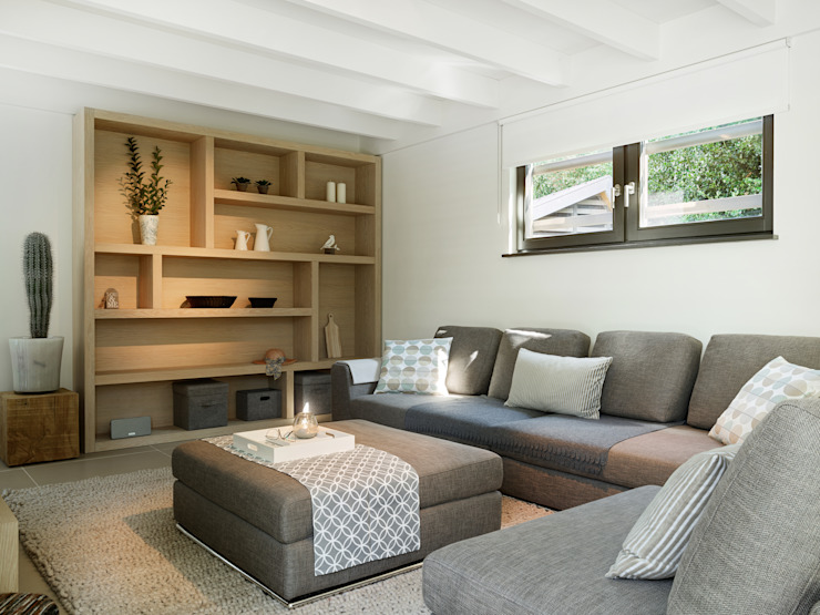 Woonkamer Moderne woonkamers van Hinabaay Modern