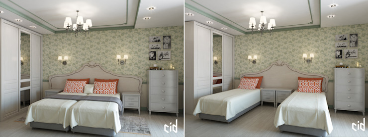Center of interior design Eclectic style bedroom