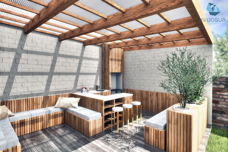 Patios & Decks by NidoSur Arquitectos - Valdivia, Modern Wood Wood effect