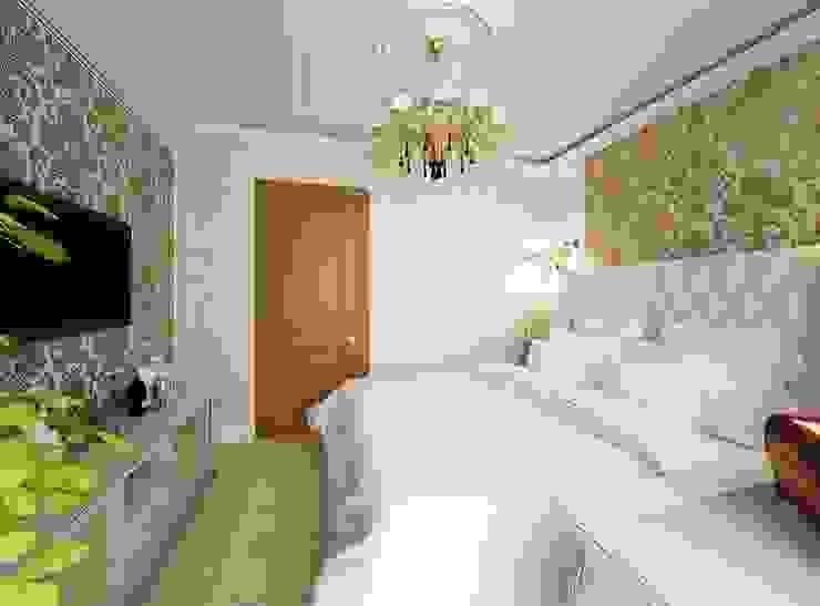 غرفة نوم تنفيذ Дизайн-бюро Анны Шаркуновой 'East-West',