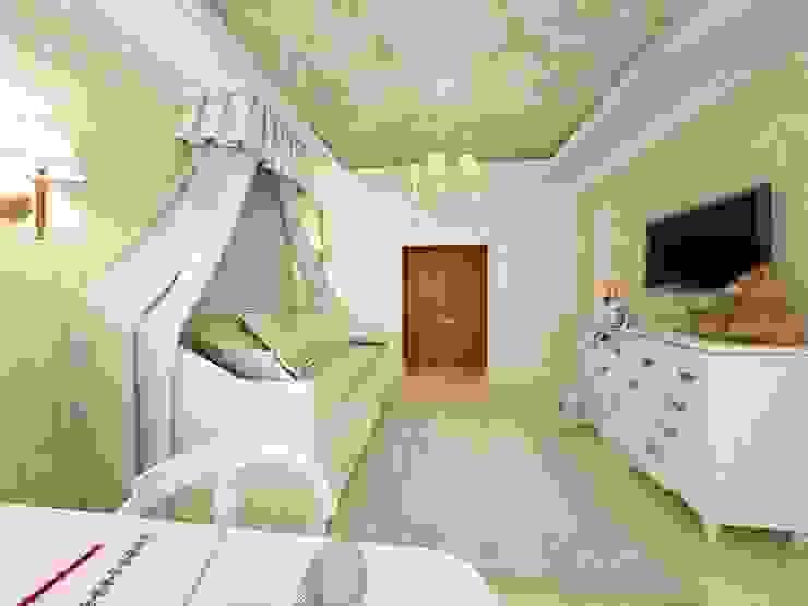غرفة الاطفال تنفيذ Дизайн-бюро Анны Шаркуновой 'East-West'