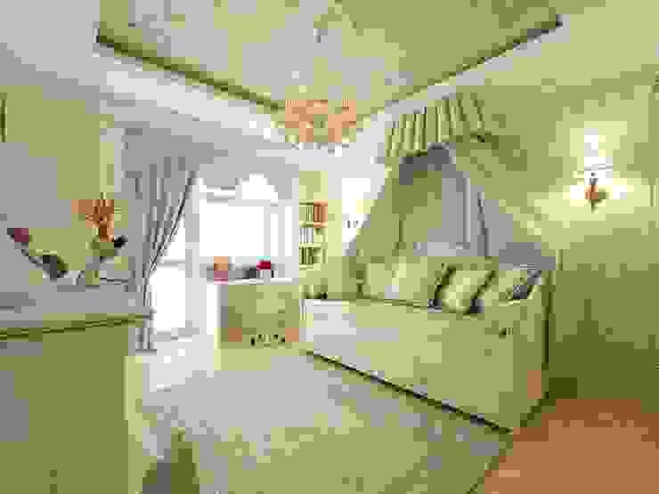 غرفة الاطفال تنفيذ Дизайн-бюро Анны Шаркуновой 'East-West',