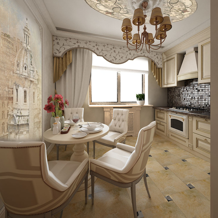 مطبخ تنفيذ Дизайн-бюро Анны Шаркуновой 'East-West',