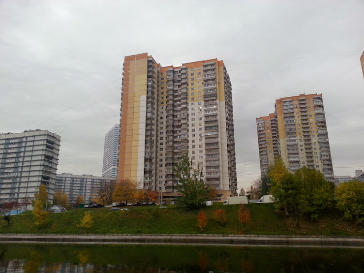 منازل تنفيذ Дизайн-бюро Анны Шаркуновой 'East-West',