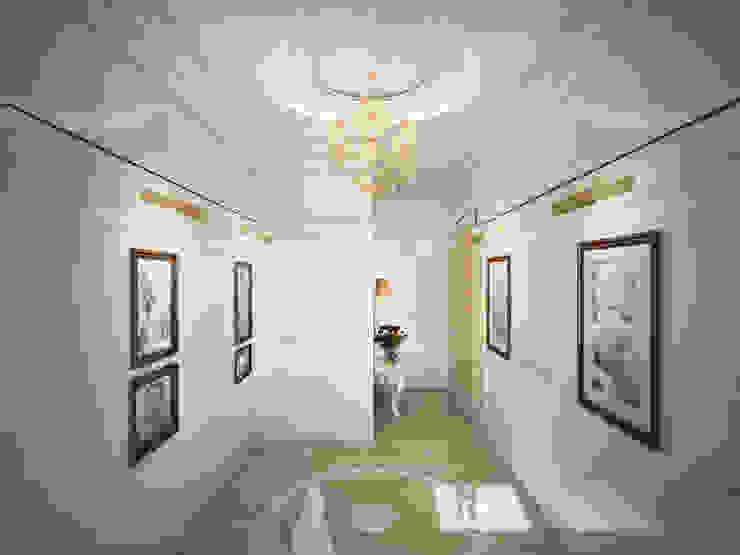 Couloir, entrée, escaliers classiques par Дизайн-бюро Анны Шаркуновой 'East-West' Classique