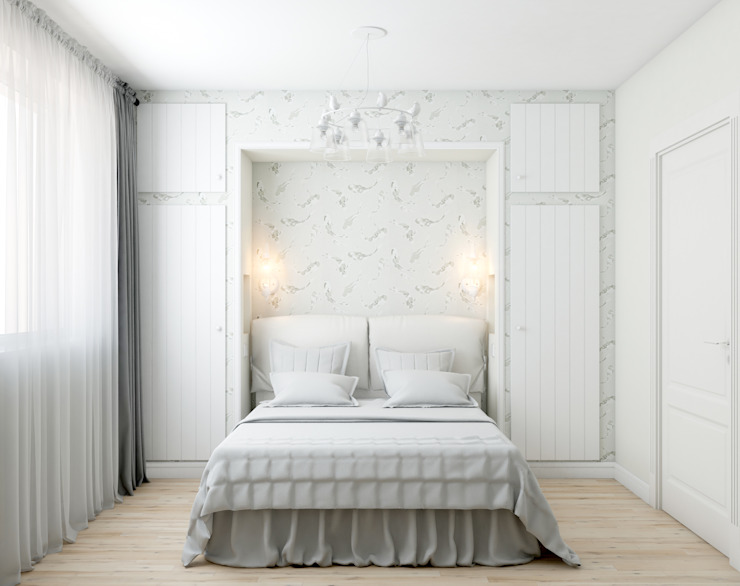Scandinavian style bedroom by Marina Sarkisyan Scandinavian