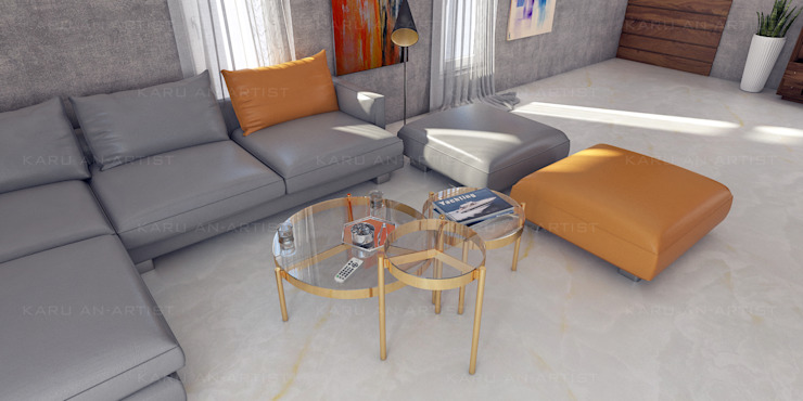 A Modern Living Room Modern living room by KARU AN ARTIST Modern