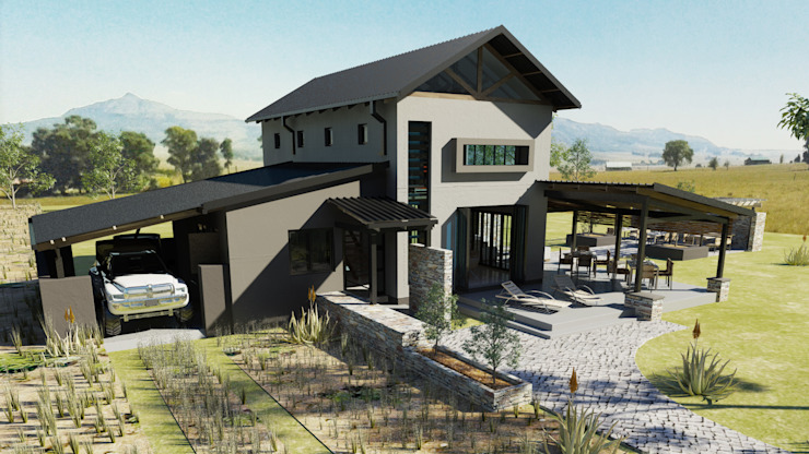 Holiday home for weekend rentals Country style house by Edge Design Studio Architects Country