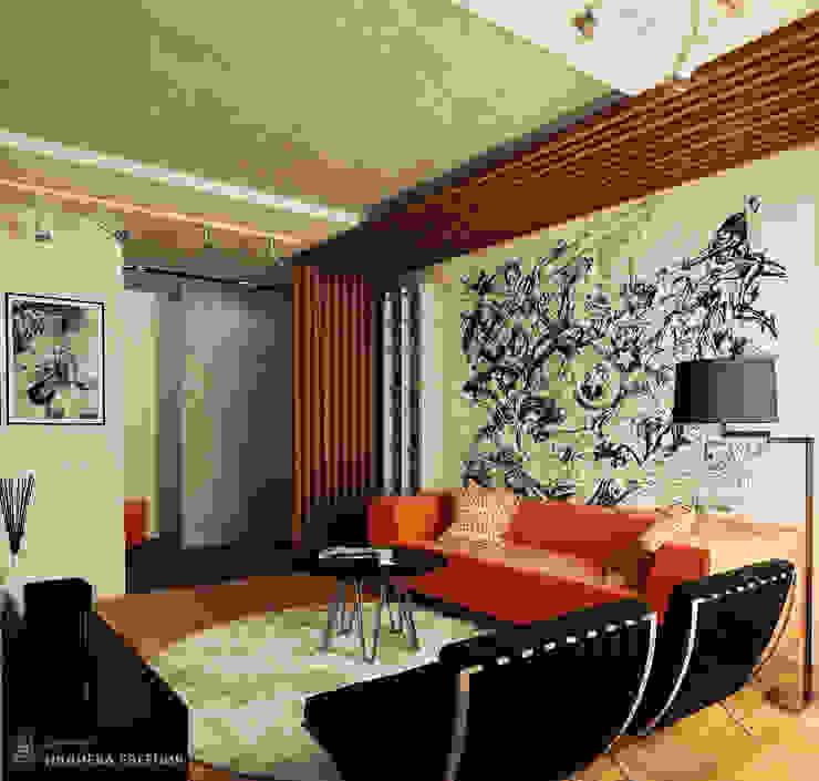 Salas de estilo industrial de IvE-Interior Industrial