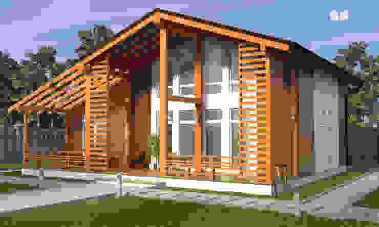 Nhà phong cách Bắc Âu bởi Mild Haus Bắc Âu Than củi Multicolored