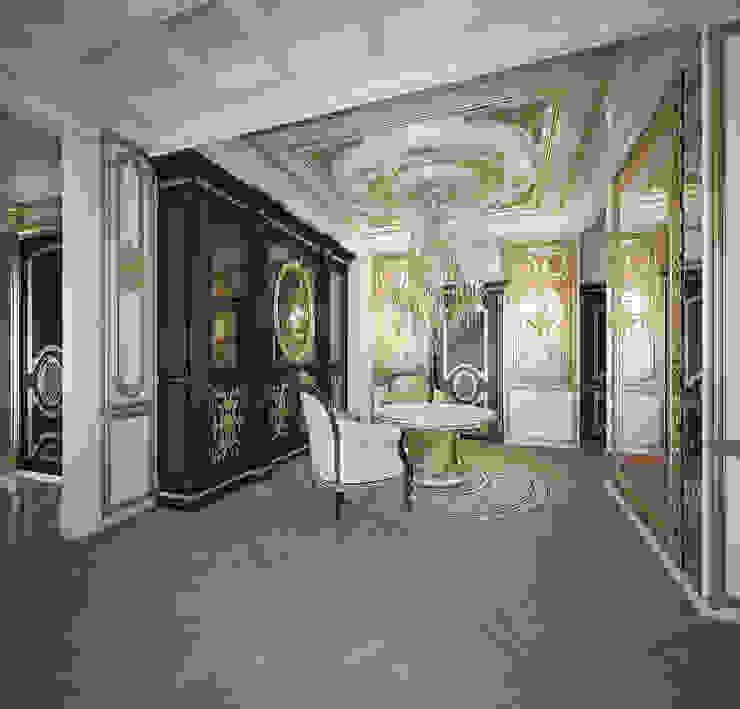 Городское барокко Гостиная в классическом стиле от Дизайн-бюро Анны Шаркуновой 'East-West' Классический