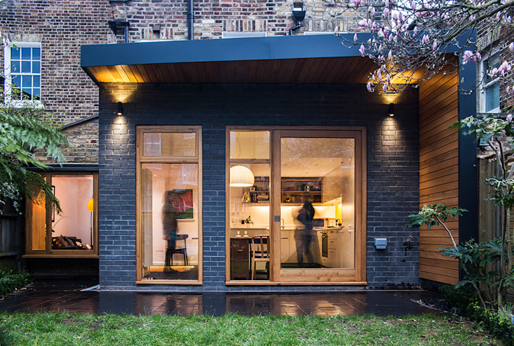 Rear View  :  Houses by A2studio, Modern Bricks