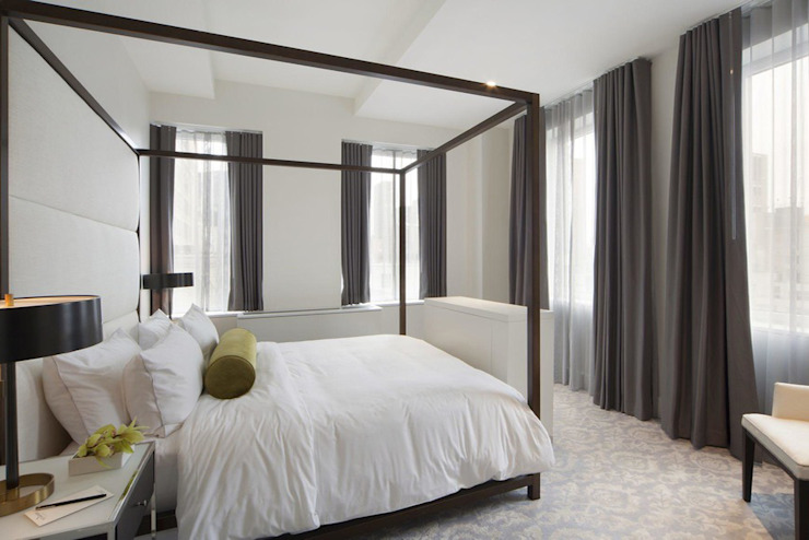 Penthouse Bedroom Modern Bedroom by Joe Ginsberg Design Modern