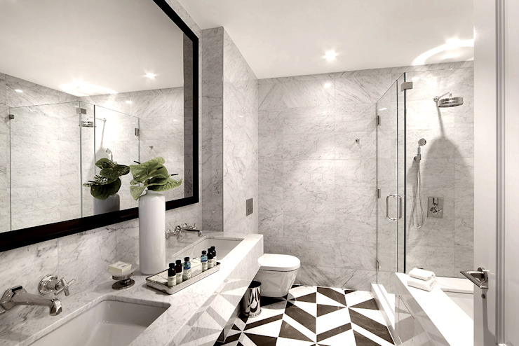 Penthouse Bathroom:  Bathroom by Joe Ginsberg Design, Modern
