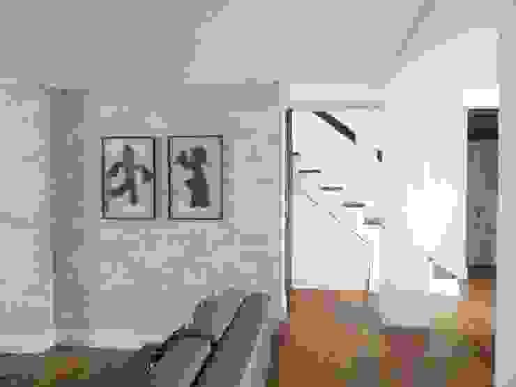 Apartamento Laranjeiras Salas de estar tropicais por BCA Arquitetura Tropical Madeira Acabamento em madeira