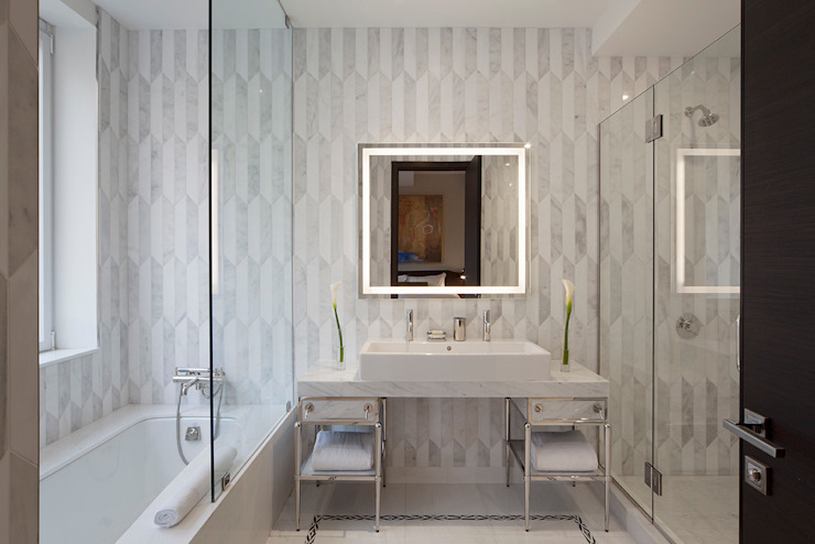 Bathroom Joe Ginsberg Design Modern Bathroom White
