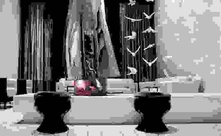 Fireplace - Lobby Marmara Park Avenue Hotel by Joe Ginsberg Design Modern