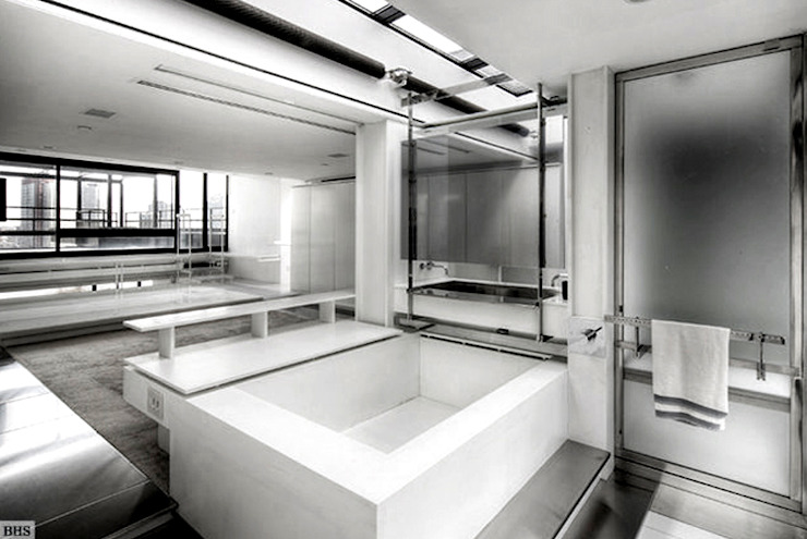 Bathroom - Historic Preservation - Paul Rudolph Estate Modern bathroom by Joe Ginsberg Design Modern