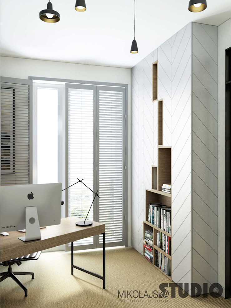 Modern Study Room and Home Office by MIKOLAJSKAstudio Modern