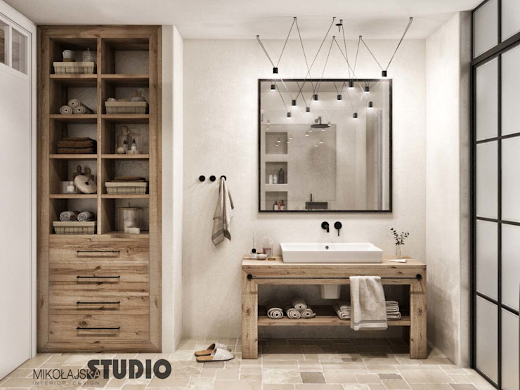 Bathroom by MIKOLAJSKAstudio, Modern