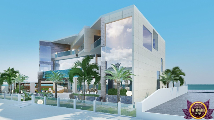Houses in bungalows style of Katrina Antonovich Modern houses by Luxury Antonovich Design Modern