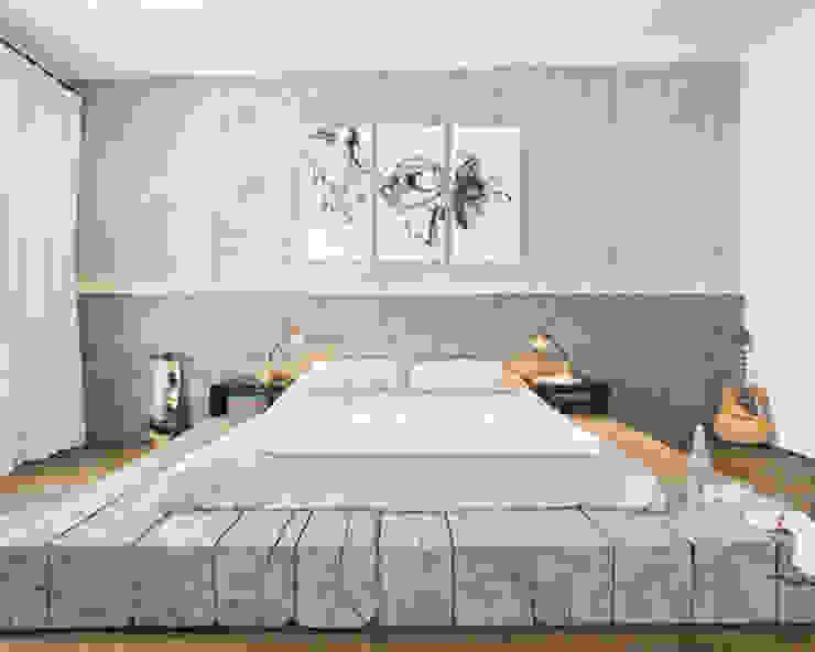 Evinin Ustası Camera da letto in stile industriale