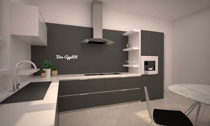 LITTLE KITCHEN Cucina minimalista di LAB16 architettura&design Minimalista