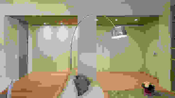 现代客厅設計點子、靈感 & 圖片 根據 Archifacturing 現代風