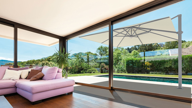 Solero Palestro Ampelschirm Moderner Garten von Solero Sonnenschirme Modern Aluminium/Zink