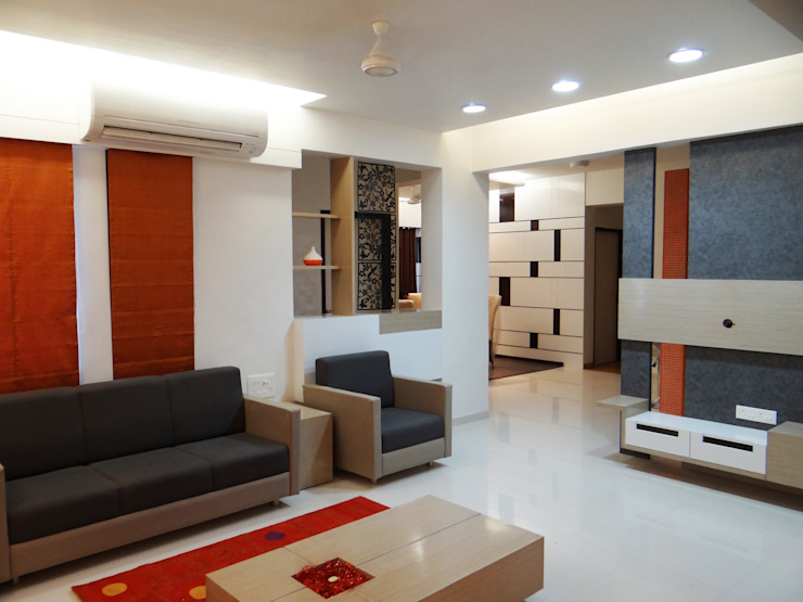 residential Modern living room by aarchion architects and interior designers Modern