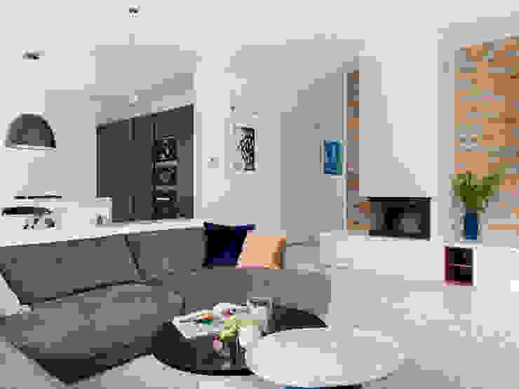 Living room Telnova Julia Modern living room Stone White