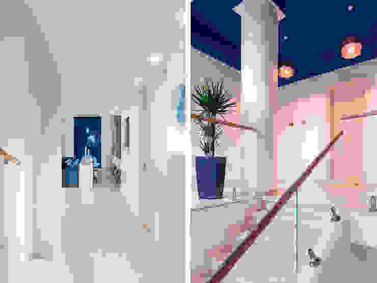 Stairs Telnova Julia Modern corridor, hallway & stairs Glass Blue