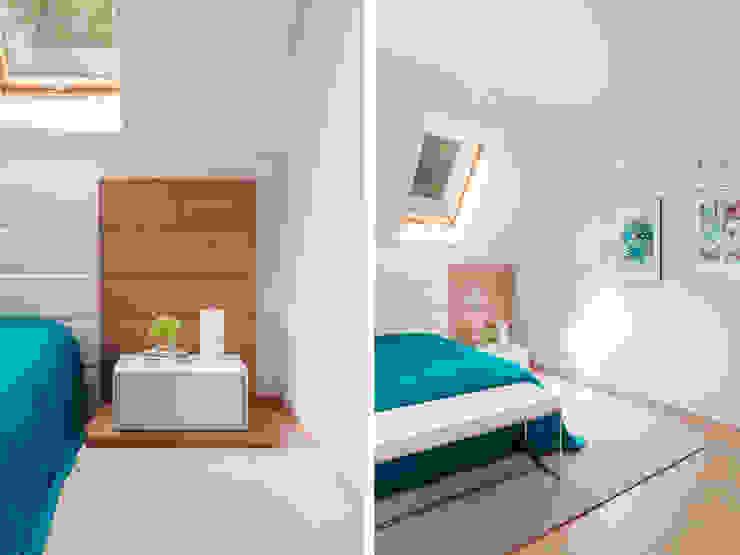 Bedroom Telnova Julia Modern style bedroom Wood Blue