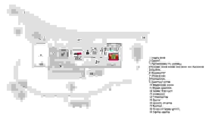 Plattegrond Begane grond villa Marbella: modern  door Studio Ruimte, Modern
