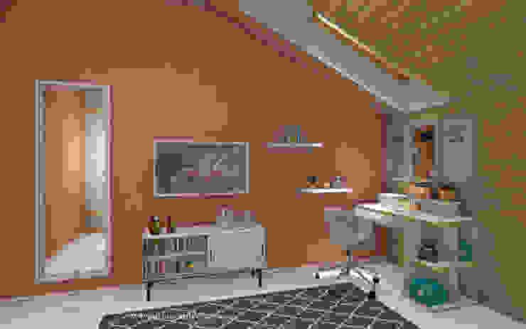 Irina Vasilyeva Eklektyczny pokój dziecięcy Różowy