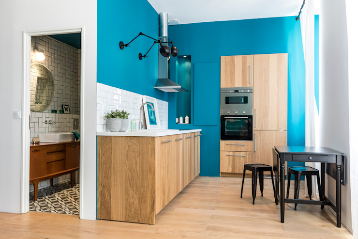 Eclectic style kitchen by Insides Eclectic Wood Wood effect