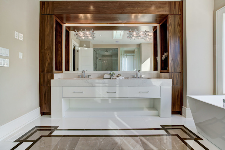 Lorne Rose Architect Inc. Bagno moderno