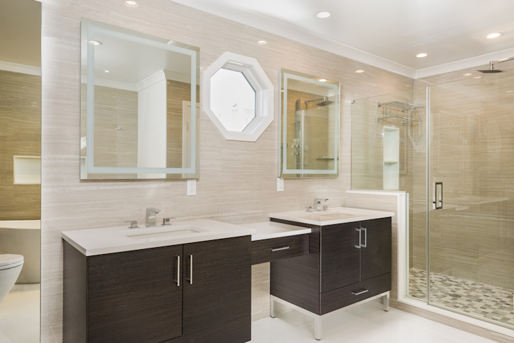Master Bathroom with Porcelanosa Tile 根據 HOMEREDI 現代風 石英