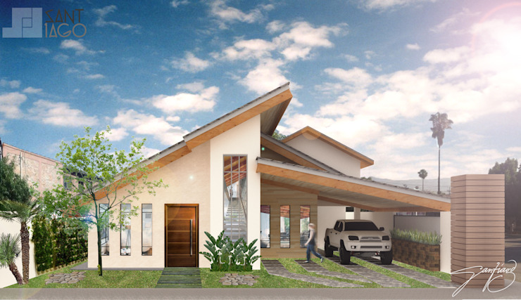 Facha interior Casas modernas de SANT1AGO arquitectura y diseño Moderno