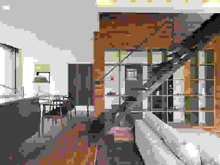 階段: Hello inc.が手掛けた現代のです。,モダン