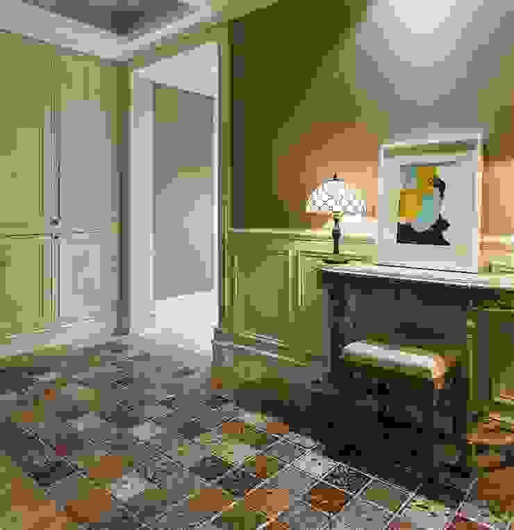 用光譜寫的美式鄉村風 乡村风格的走廊,走廊和楼梯 根據 辰林設計實業有限公司 鄉村風