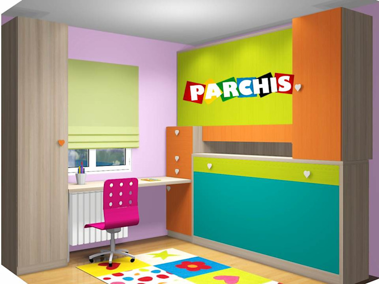 Modern Study Room and Home Office by Muebles Parchis. Dormitorios Juveniles. Modern
