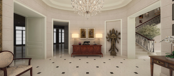 Kerim Çarmıklı İç Mimarlık Pasillos, vestíbulos y escaleras de estilo clásico